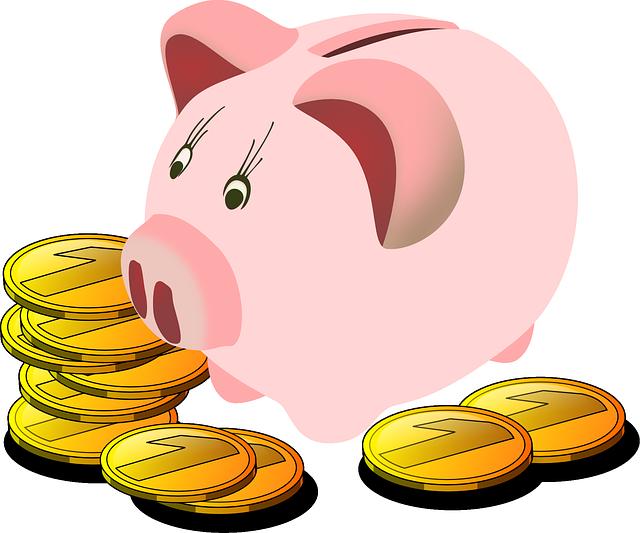 ukládání peněž do pokladničky