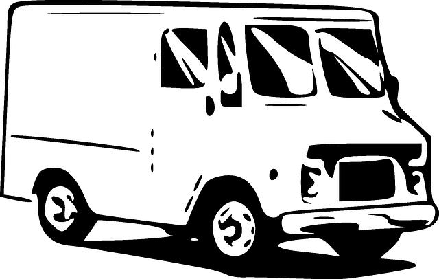 dodávka ilustrace