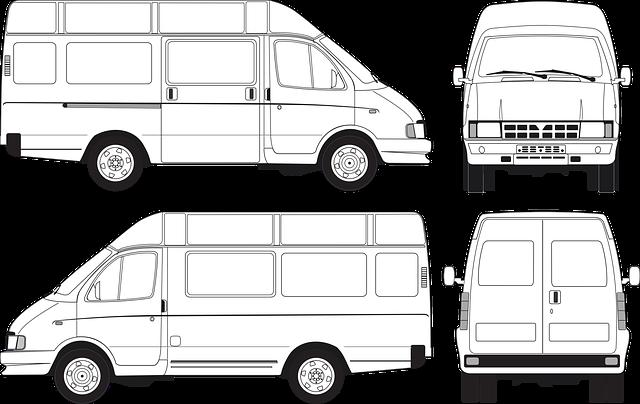 kresba vozu ze všech stran