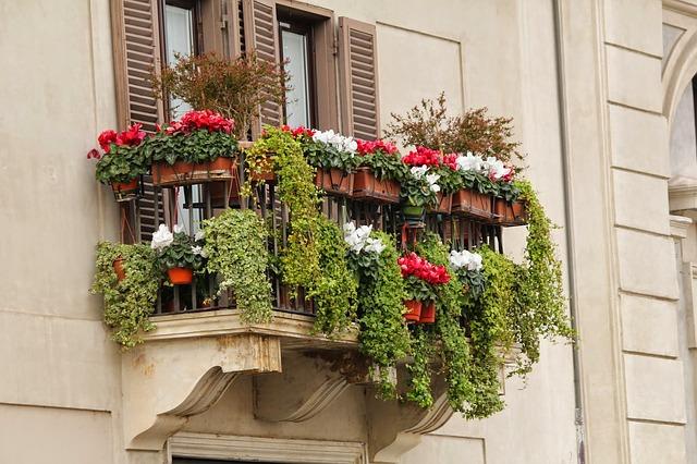 květinový balkon