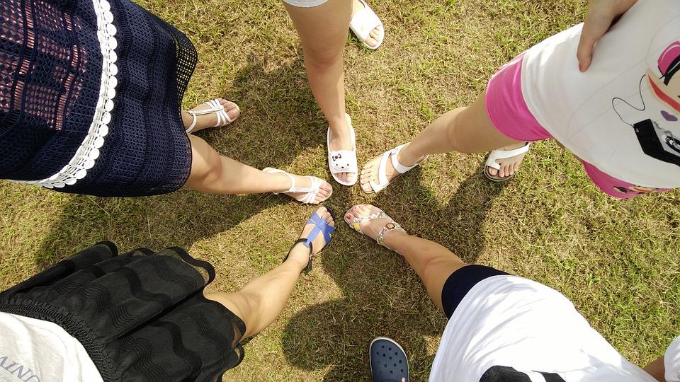 nohy, ženy