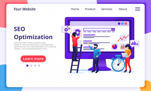 seo-analysis-concept-with-people-work-screen-search-engine-optimization-marketing-strategies-website-landing-page-template_138260-406